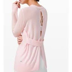 NWT lululemon Sincerely Yours Pink Sweater Cutout